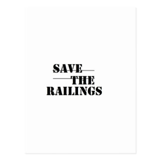SAVE THE RAILINGS POST CARDS