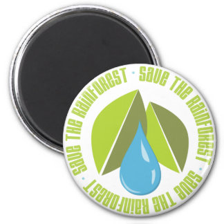 Save the Rainforest Earth Day Tees and Gifts 6 Cm Round Magnet