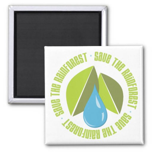 Save the Rainforest Earth Day Tees and Gifts Fridge Magnet