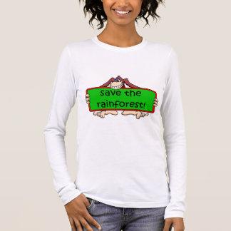 save the rainforest long sleeve T-Shirt