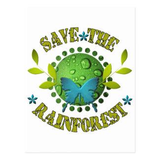 Save the Rainforest Postcard