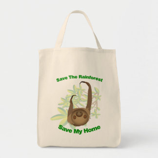 Save The Rainforest Sloth Tote Bag