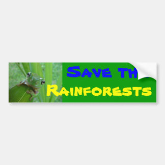 save the rainforests bumper sticker