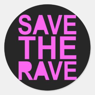 SAVE THE RAVE purple Round Sticker