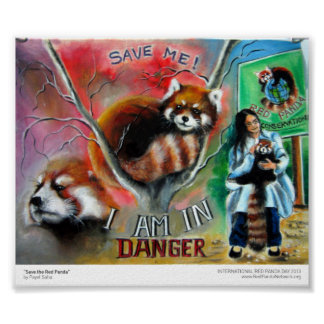 """Save the Red Panda"" Print"