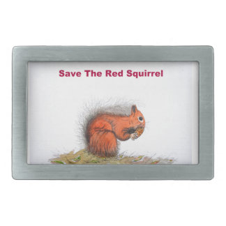 Save the red squirrel belt buckle
