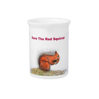 Save the red squirrel beverage pitchers