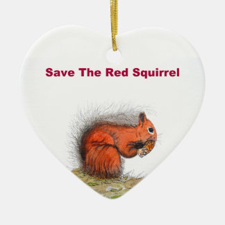 Save the red squirrel christmas ornament