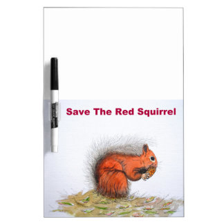 Save the red squirrel dry erase board