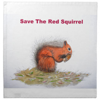 Save the red squirrel napkin