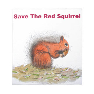 Save the red squirrel notepad