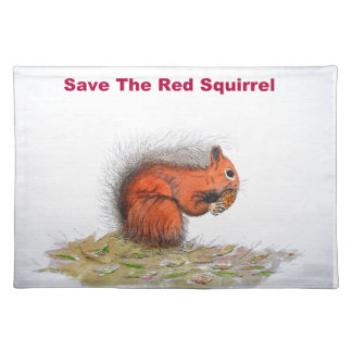 Save the red squirrel placemat