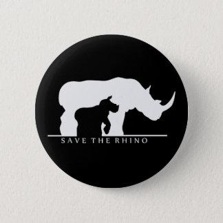Save The Rhino 6 Cm Round Badge