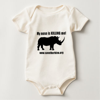 Save the Rhino Baby Bodysuit