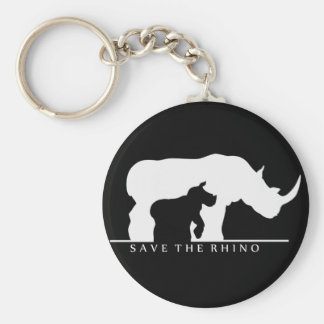 Save The Rhino Basic Round Button Key Ring