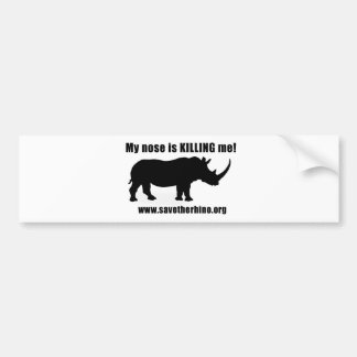 Save the Rhino Bumper Sticker