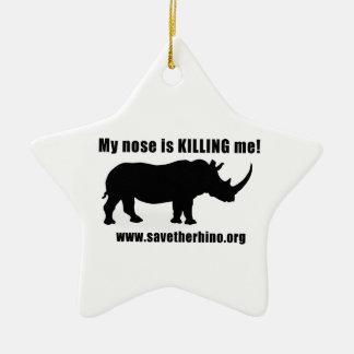 Save the Rhino Christmas Ornament