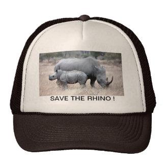 Save the rhino ! mesh hats