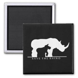 Save The Rhino Fridge Magnet