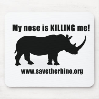Save the Rhino Mouse Mat
