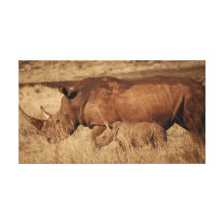 Save the Rhino Stretched Canvas Print