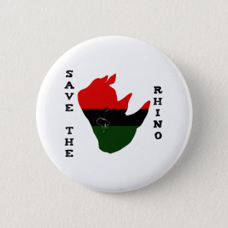 Save the Rhino w/ Africa Tear White 6 Cm Round Badge