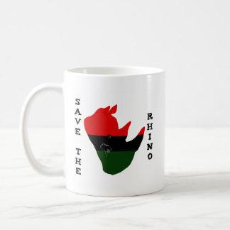 Save the Rhino w/ Africa Tear White Coffee Mug