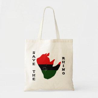 Save the Rhino w/ Africa Tear White Tote Bag