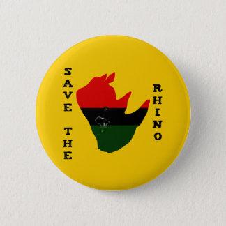 Save the Rhino w/ Africa Tear Yellow 6 Cm Round Badge