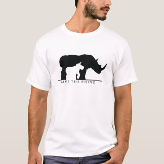 Save The Rhino (white ver.) T-Shirt