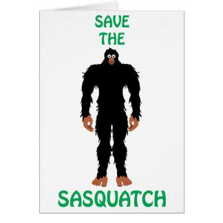 SAVE THE SASQUATCH CARD