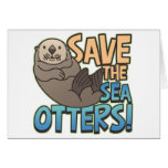 Save The Sea Otters Greeting Card