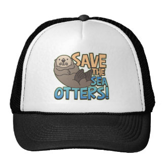 Save The Sea Otters Mesh Hats