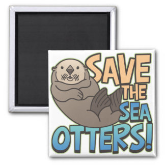 Save The Sea Otters Magnets