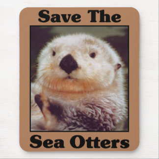 Save the Sea Otters Mouse Mat