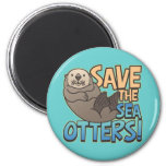 Save The Sea Otters Refrigerator Magnet