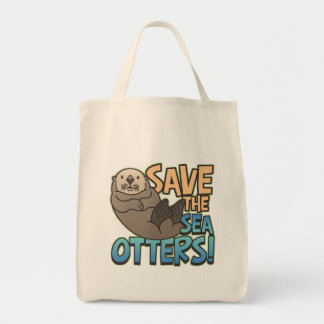 Save The Sea Otters Tote Bag