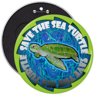 Save The Sea Turtle Buttons