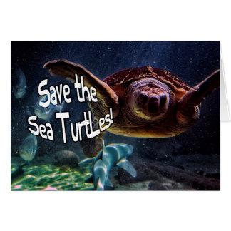Save the Sea Turtles Animal Photo Card