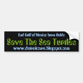 Save The Sea Turtles Car Bumper Sticker