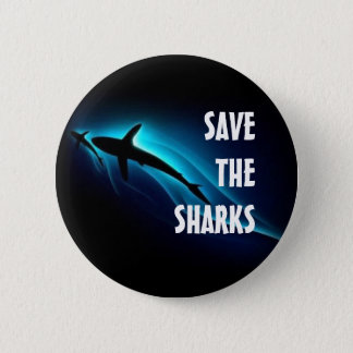Save The Sharks 6 Cm Round Badge