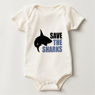 Save The Sharks, Save The Fins Baby Bodysuits