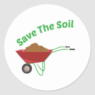 Save The Soil Classic Round Sticker