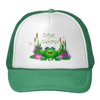 Save the Swamp Beulah the Frog Cap