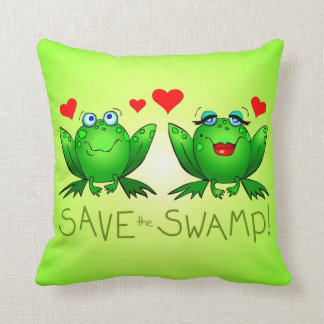 Save the Swamp Frogs Wetland Conservation Cushions