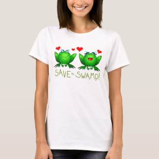 Save the Swamp Frogs Wetland Conservation T-Shirt