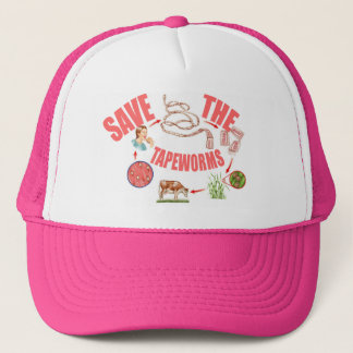 Save the Tapeworms Trucker Hat