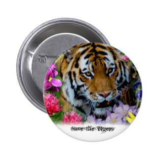 Save the Tigers 6 Cm Round Badge