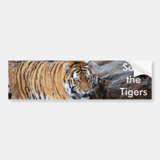 Save the Tigers Bumper Sticker