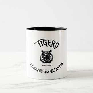 Save the tigers endangered species mug